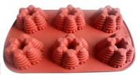 Формы и противень для выпечки (силикон) 6 ячеек FRICO FRU-864, 35x23x5 см.