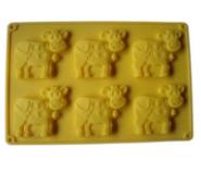 Форма и противень для выпечки (силикон) коровки FRICO FRU-897, 26.5x18.8x1 см.