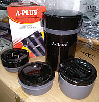 Ланчбокс (4 в 1) термос пищевой A-PLUS 1669, 1 л., фото 1