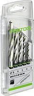 Набор спиральных сверл по дереву BKS D 3-8 CE/W Festool 493648