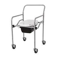 Кресло-туалет с санитарным оснащением регулируемое на колёсах KT-771 Heaco