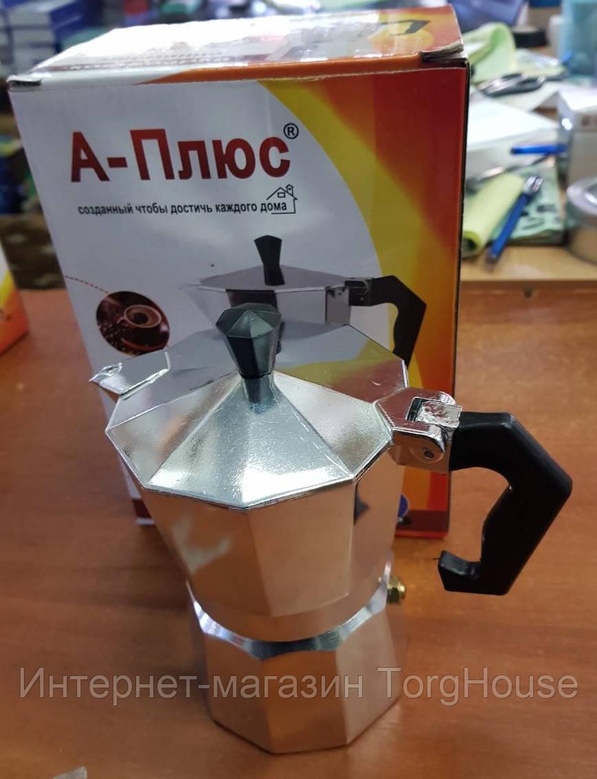 Гейзерная кофеварка A-PLUS CM-2082 (на 6 чашек)