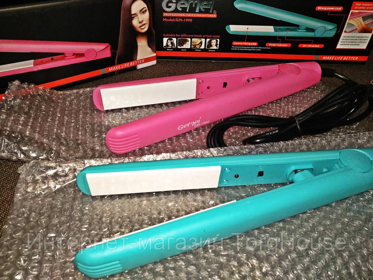 Выпрямитель, утюжок для волос Gemei GM-1990 (керамика)