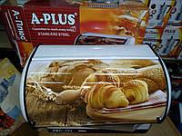 Хлебница с рисунком A-PLUS 1814 (нержавеющая сталь), фото 1