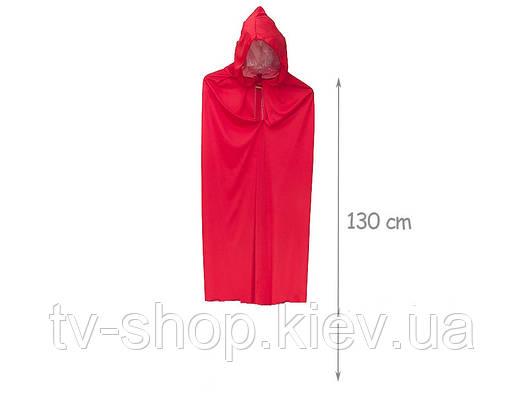 Плащ красный с капюшоном (130 см)