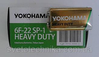 Батарейка Yokohama крона солевая (упаковка 10шт.)6F22 SP-1 9V HEAVY DUTY