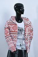 """Женская зимняя куртка в украинском стиле""""Вишиванка"""", фото 1"""