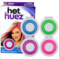 Мелки для волос Hot Huez, Мелки для окрашивания волос, Пастель для волос, Цветные мелки для волос