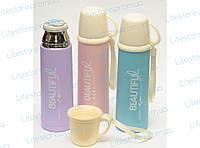 T127 ТЕРМОС 450 МЛ, Детский термос, Термос с чашкой, Термос для напитков, Красивый термос, Питьевой термос