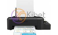 Принтер струйный цветной A4 Epson L120 (C11CD76302), Black, 720х720 dpi, до 8.5/4.5 стр/мин, USB, встроенное СНПЧ по 40 мл (чернила T664)