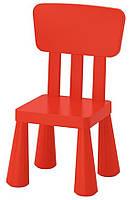 Детский стул IKEA МАММУТ красный