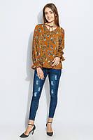 Блузка женская повседневная 961K006 (Цветочный принт) #I/M