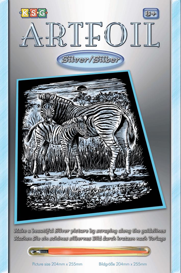 Набор для творчества Sequin Art ARTFOIL SILVER Zebra and Foal SA1018