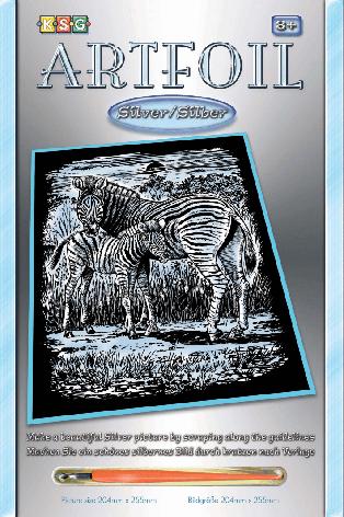 Набор для творчества Sequin Art ARTFOIL SILVER Zebra and Foal SA1018                                , фото 2