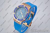 Женские часы Hublot Хублот с японским механизмом синие