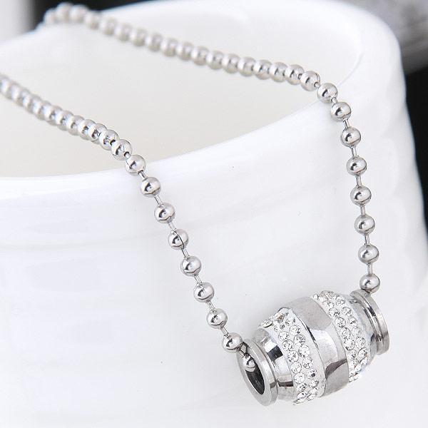 Кулон серебро с бусиной  P010549