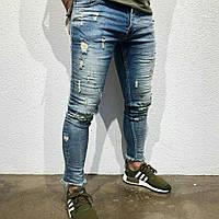 Мужские джинсы Black Island(Турция) с потертостями 19 04-3 ОД a61d8e444fe54