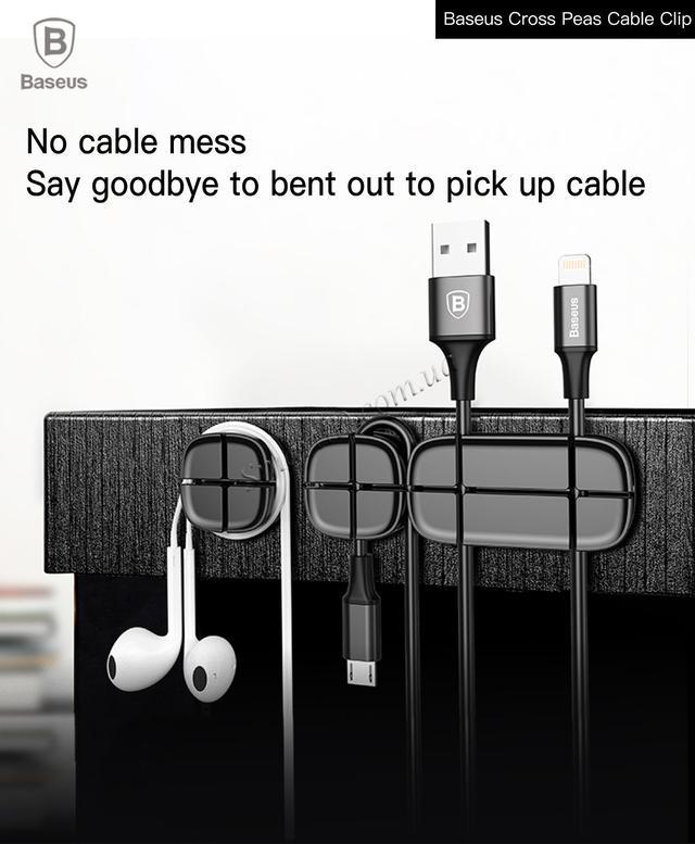 Baseus держатель для проводов (Baseus Cross Peas Cable Clip)