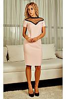 """Платье женское летнее с сеткой чёрного цвета и отделкой в виде тонкого кружева - макраме """"Алисия"""""""