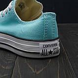Кеды Converse All Star Tiffany Blue (низкие), фото 3