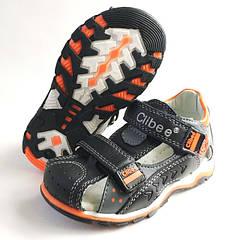 Босоножки сандалии для мальчика кожа черные 26р.,-31р., Clibee 3817