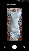 Голубое женское платье миди...летнее