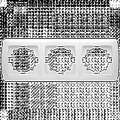 Потрійна горизонтальна рамка VIKO Carmen, фото 3