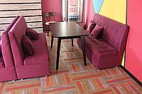 Розовые диваны для кафе