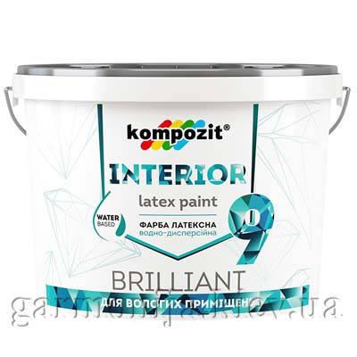 Краска интерьерная INTERIOR 9 Kompozit, 2.7 л, фото 2