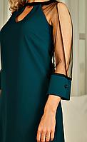 """Платье женское елегантное с рукавами из сетки  """"Джованна """"."""
