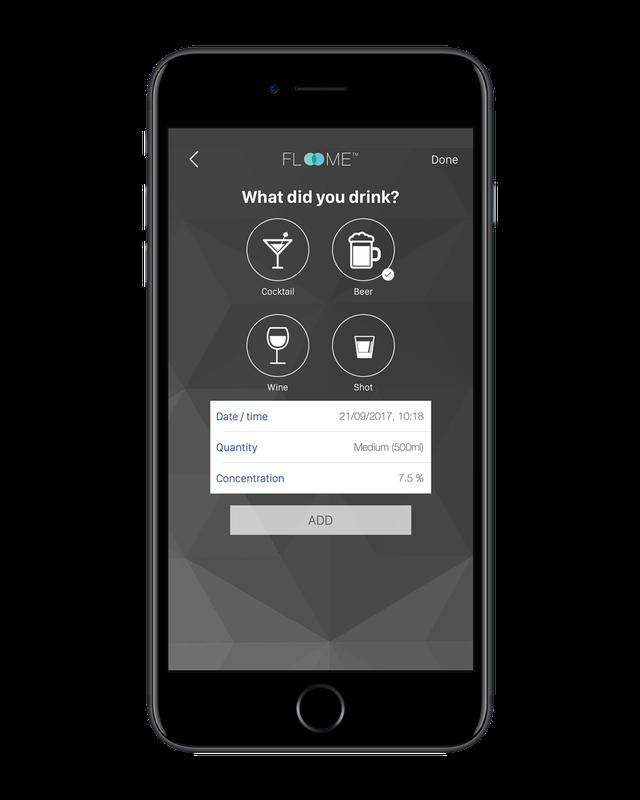 Floome Smartphone breathalyzer