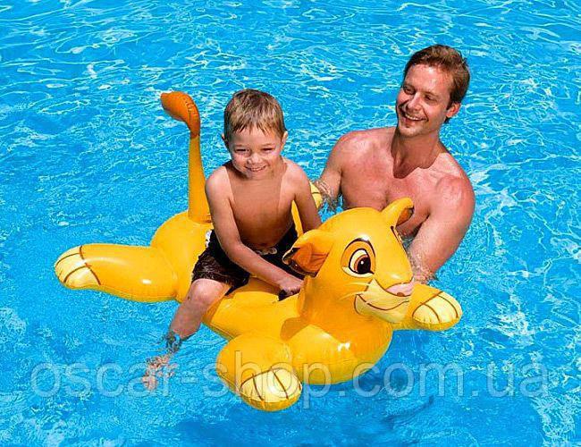 """Дитяча надувна іграшка для плавання """"Король Лев"""" / Пліт для плавання / Надувна іграшка для басейну"""