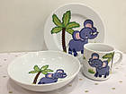 Набор детской посуды Слонёнок 3 пр Lubiana