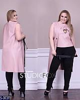 Тренч S-3737 (46, 48, 50, 52, 54, 56, 60, 58) — купить Вечерние платья XL+ оптом и в розницу в одессе 7км
