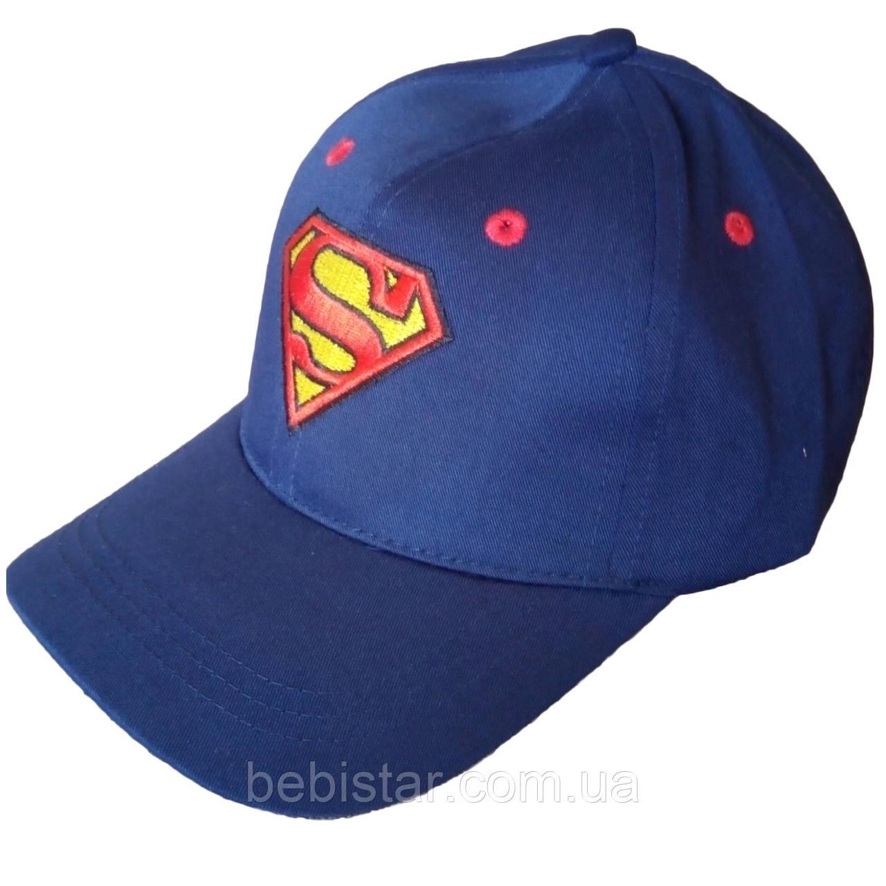 Кепка бейсболка рисунок супермен цвет:синий для мальчика