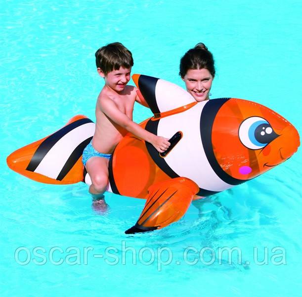 Дитяча надувна іграшка для плавання Риба-клоун / Пліт для плавання дитячий / Надувна іграшка для басейну