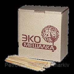 """Мешалка """"ТОЛСТАЯ"""" ЭКО деревянная  14 см (1000шт) Картон 1ящ/18шт"""