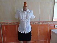 Блузка рубашка белая 100% коттон (44р)
