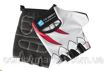 Перчатки детские Crazy Safety Белая Акула