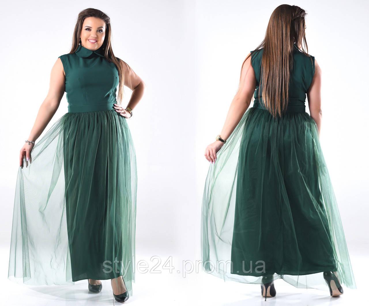 Батальне довге плаття з сіткою.Р-ри 46-60  продажа 2350bffff72c8
