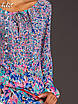 Блуза с цветочным принтом голубой/розовый до 50р, фото 2