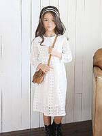 Мереживне плаття на довгий рукав для дівчат, весна/літо/осінь