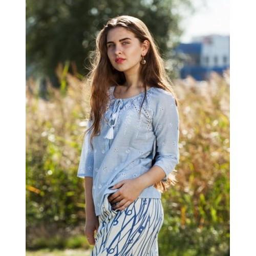 Летняя блуза из натуральной ткани 91ИН
