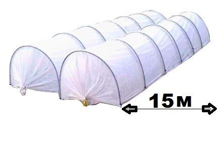 Парник Агро-Лидер из агроволокна 50 плотность 15 метров