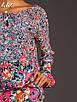 Блуза с цветочным принтом синий/красный до 50р, фото 2