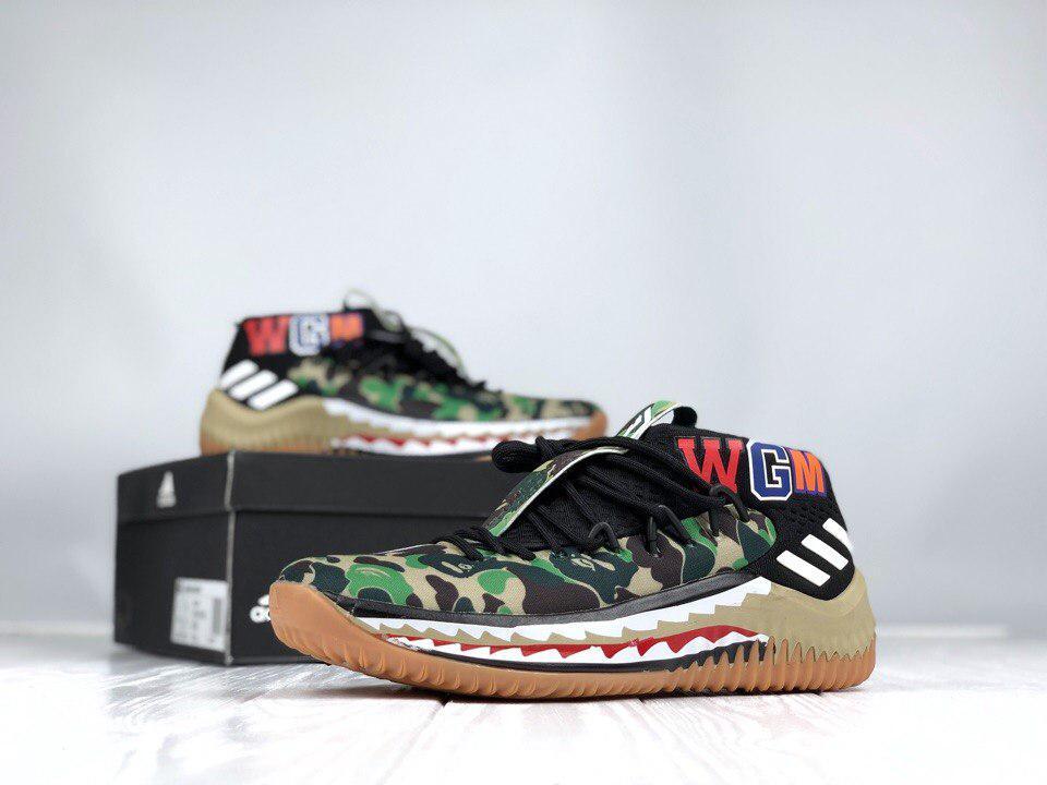 кроссовки Bape X Adidas Dame 4 Camo Green цена 1 950 грн купить в