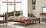Кровать Жозефина металлическая на деревянных ножках