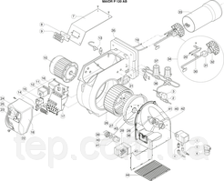 Запчастини для рідкопаливних пальників Ecoflam серії Maior P 120 AB
