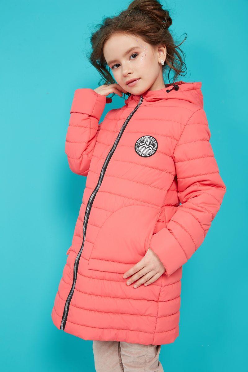 Коралловая детская куртка