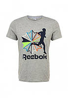 Мужская футболка в стиле Reebok серая
